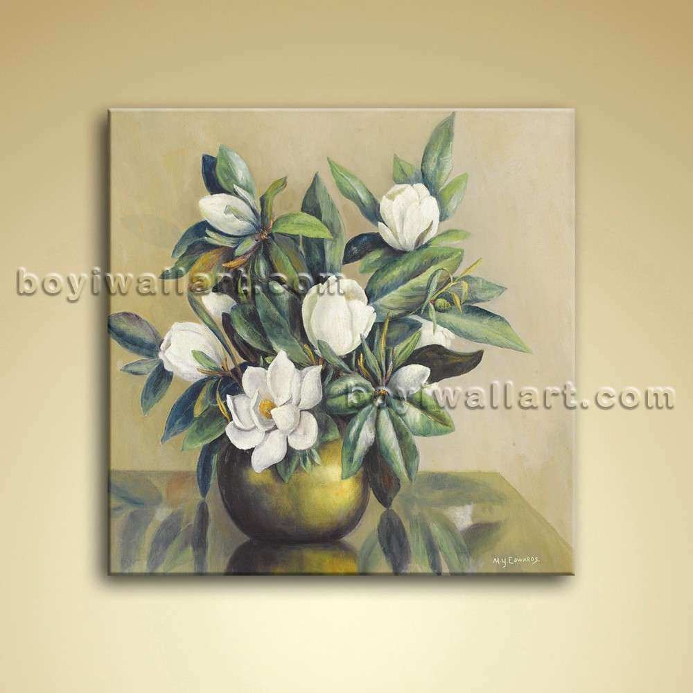 Modern Abstract Floral Painting Bouquet Flower Oil