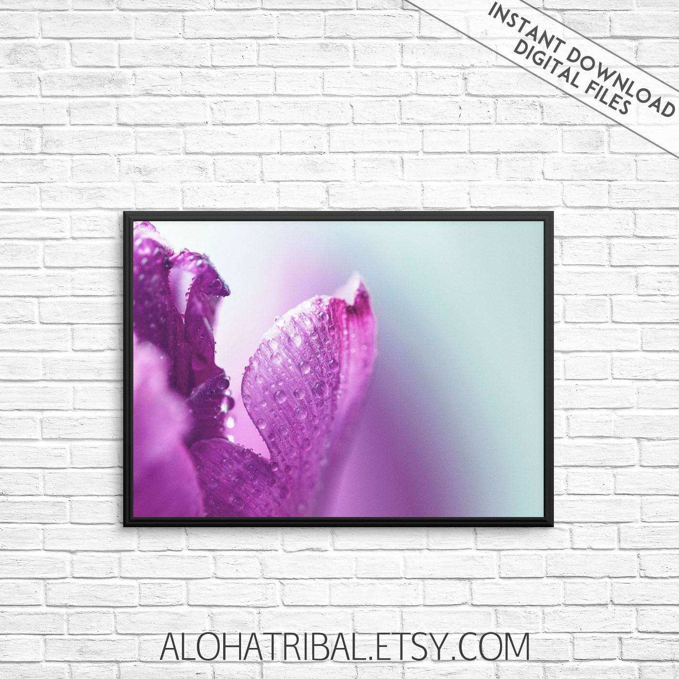 Flower Prints Flower Wall Art Purple flower art print