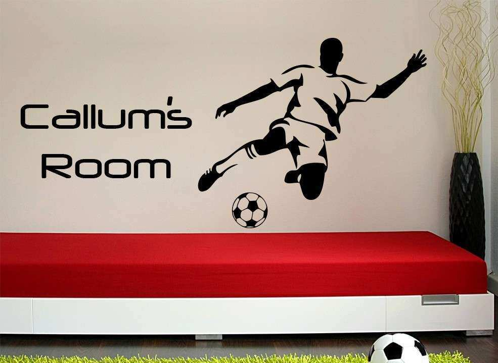 Football wall stickers for the room of a football fanatic