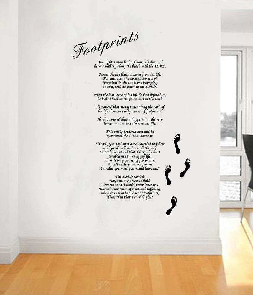 Footprints In The Sand Wall Art Takuice