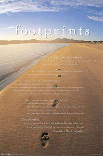 Footprints Wall Poster Footprints in the Sand Art