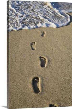 Footprints In The Sand Wall Art poem wall stickers