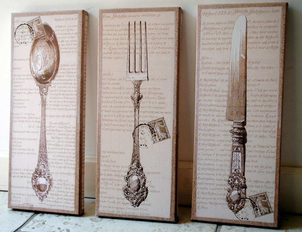 Knife Fork And Spoon Wall Art to Pin on Pinterest