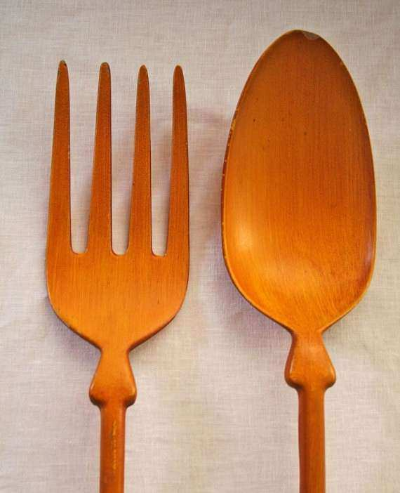 Fork and Spoon Wall Decor New Extra Large Metal fork and Spoon for Wall Decor