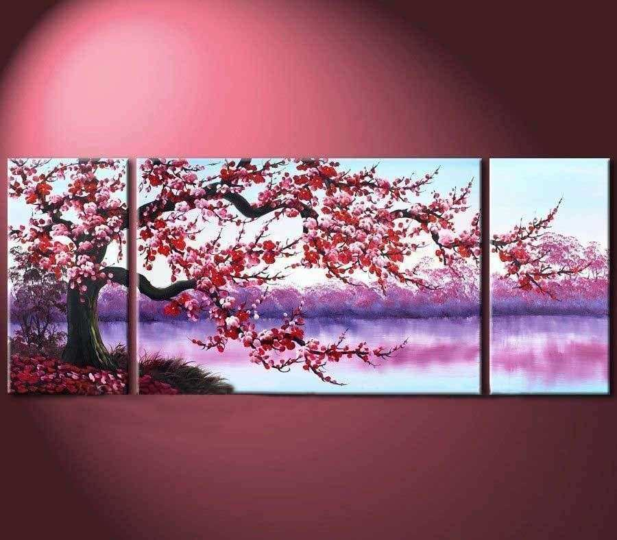 3PC Modern Abstract Art Oil Painting Wall Decor