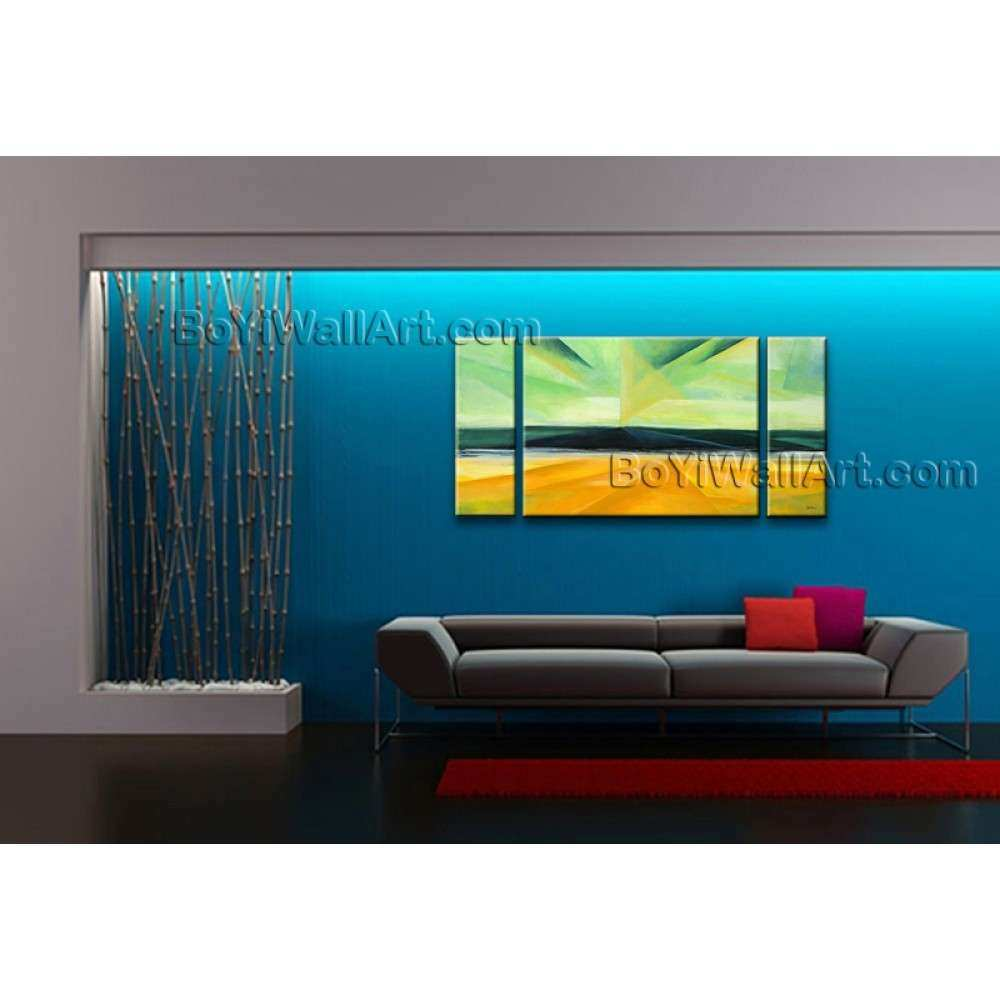 Hand painted Triptych Modern Abstract Painting Wall Art