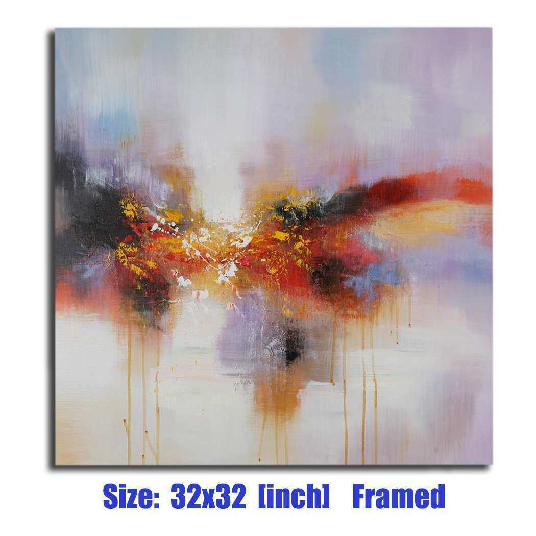 MODERN ABSTRACT Scenery Oil Painting Wall Art Decor