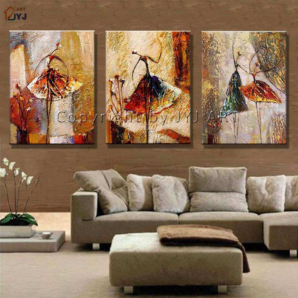 Framed Stretched Hand Painted Modern Abstract Oil Painting