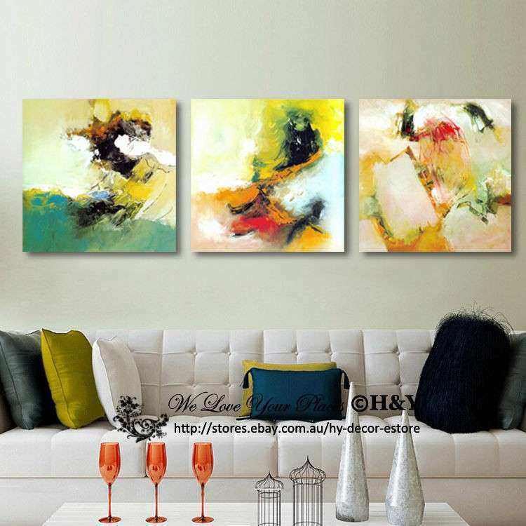 Framed Abstract Wall Art Inspirational Set 3 Abstract Pattern ...