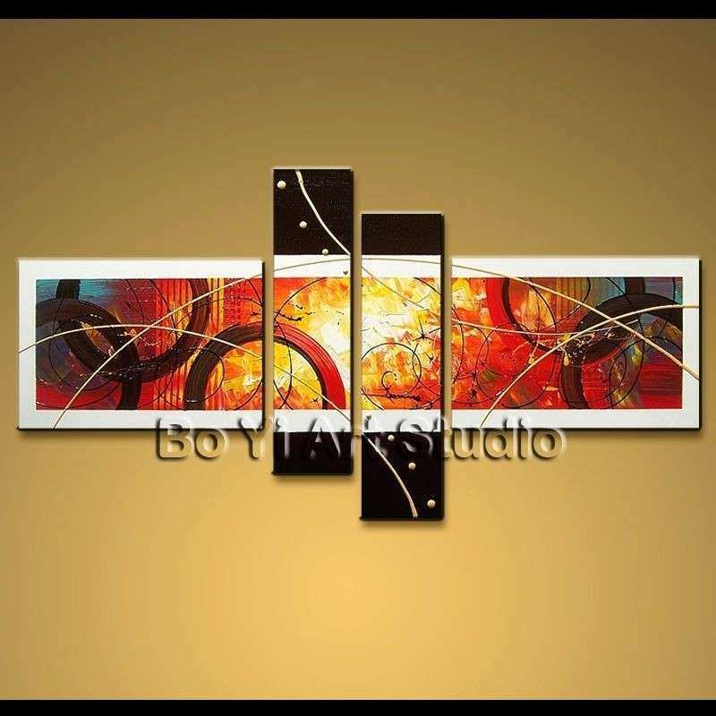 Modern Abstract Painting Wall Art Work Framed Oil