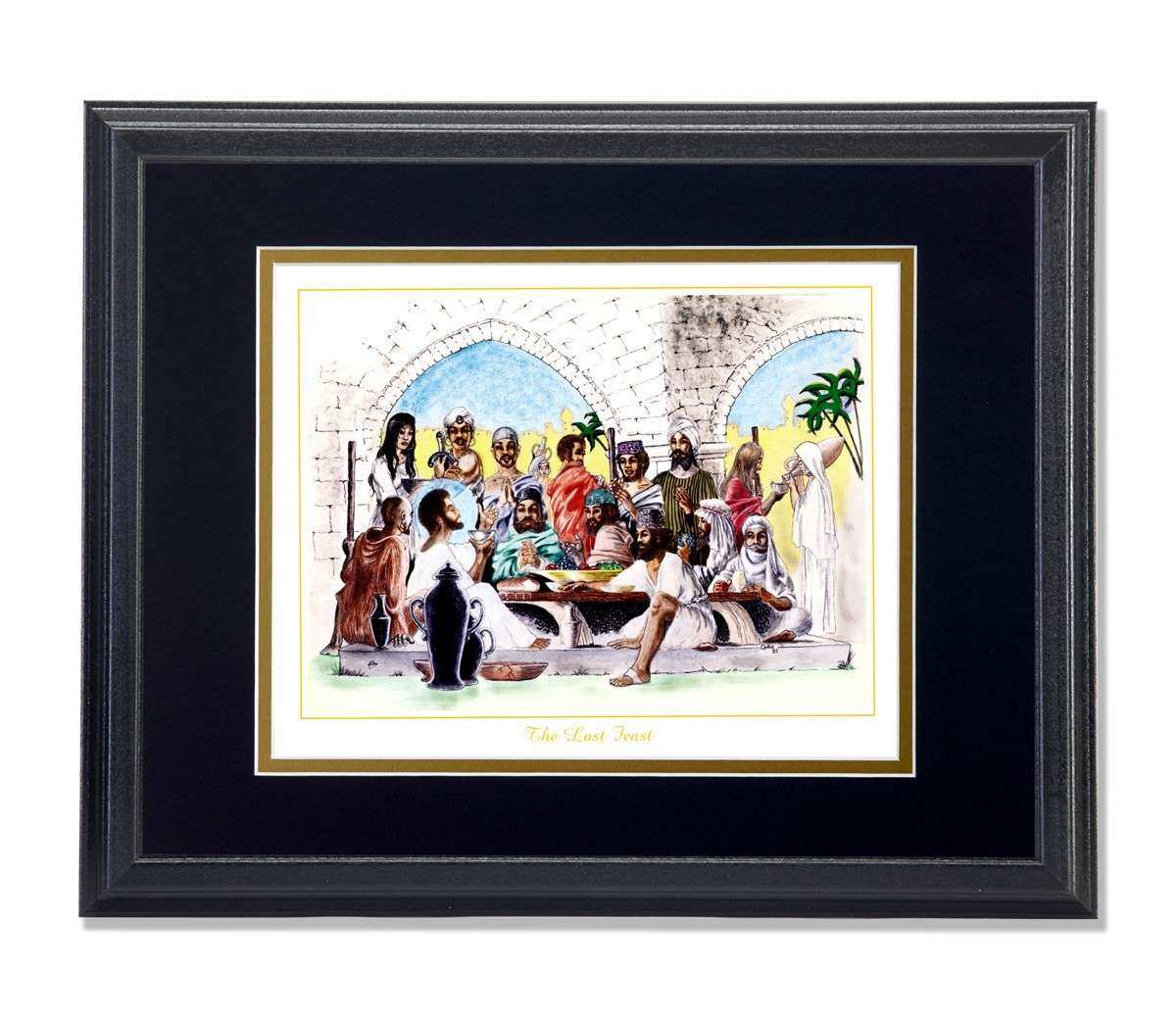 African American Black The Last Feast Religious Wall