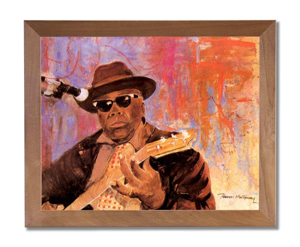 African American Black John Hooker Guitar Music Picture