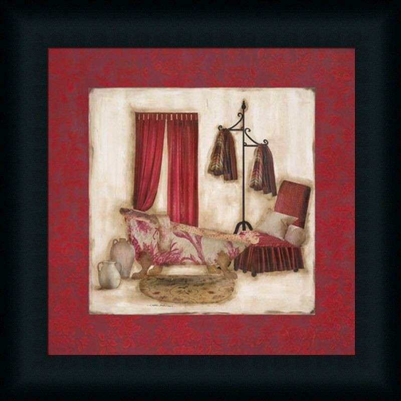 Framed Bathroom Wall Art Elegant Ruby Romance I By Olson Red Bathroom Decor Framed  Art