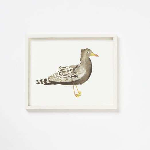 Framed Bird Wall Art – Seagull