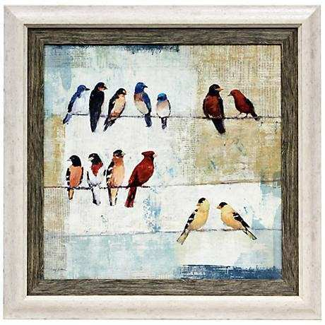 "The Usual Suspects 36"" High Framed Bird Wall Art 3K797"