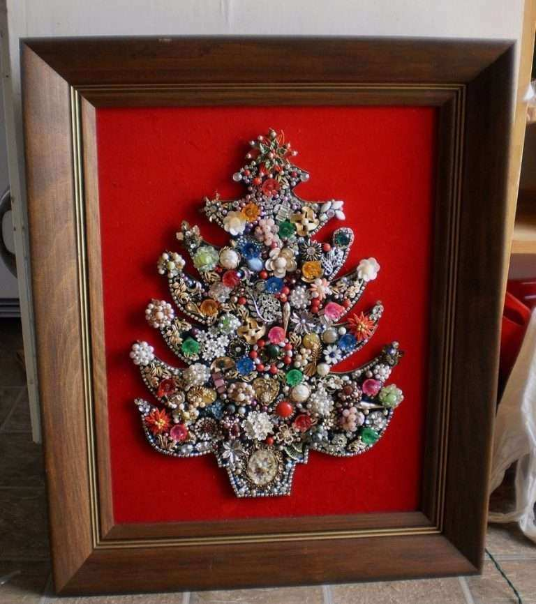framed christmas wall art best of vintage costume jewelry christmas tree framed art holiday