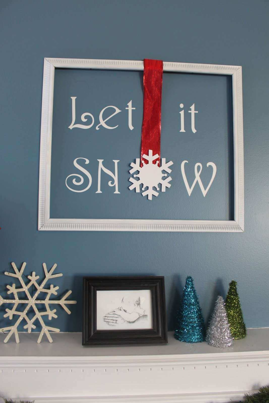 """My Own Road """"Let it Snow"""" framed wall art"""