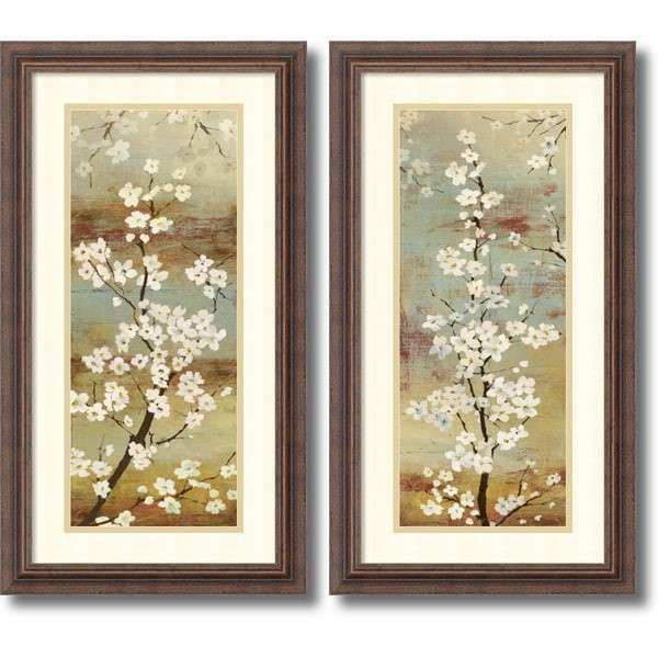 Framed Art Print Blossom Canopy set of 2 by Asia
