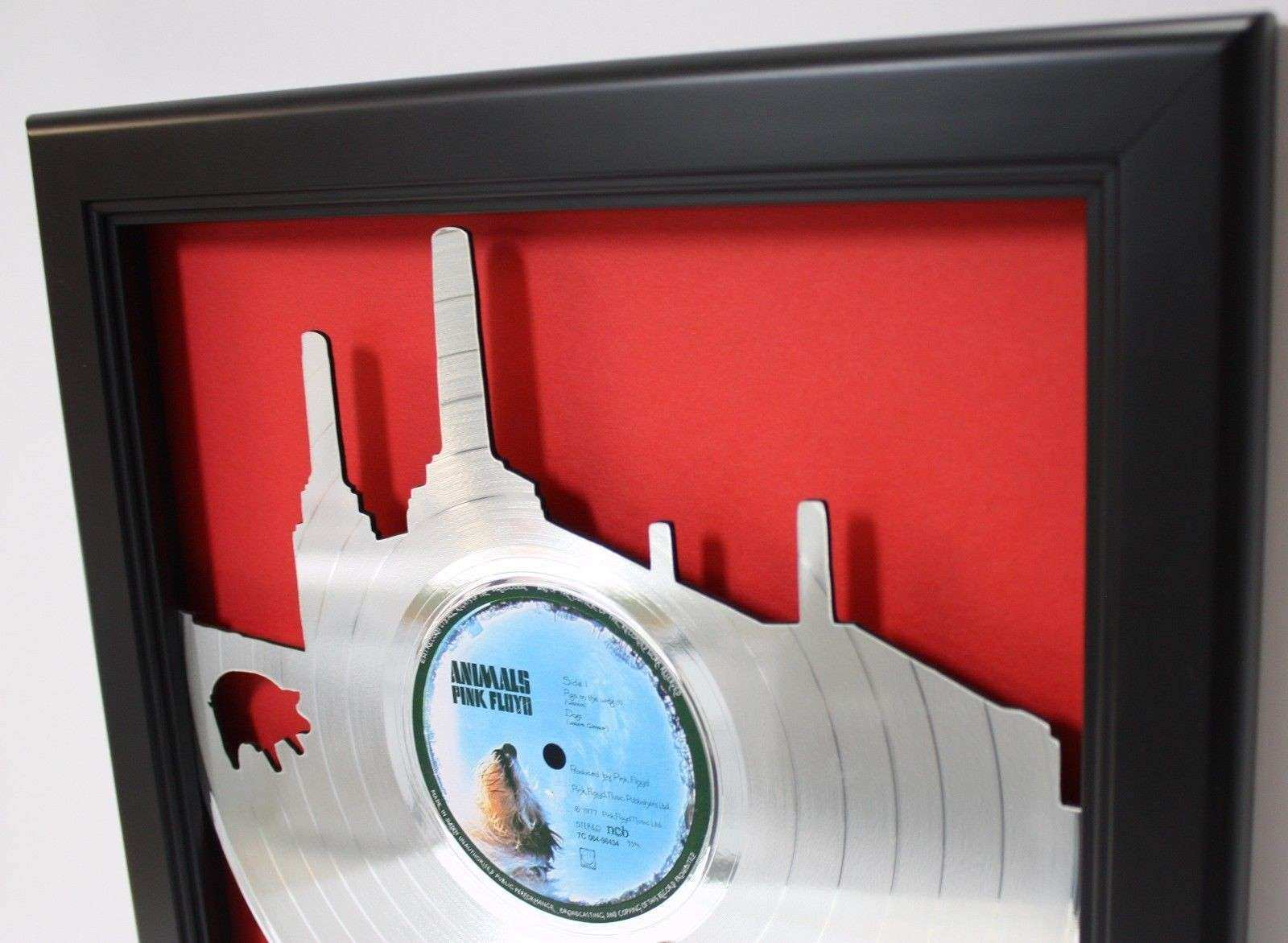 Pink Floyd Animal Framed Laser Cut Platinum Vinyl Record