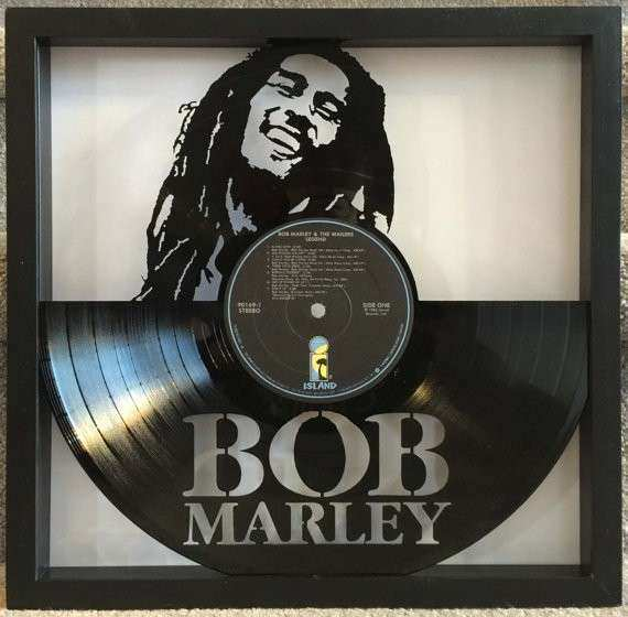 Bob Marley Legend cut framed vinyl LP record art