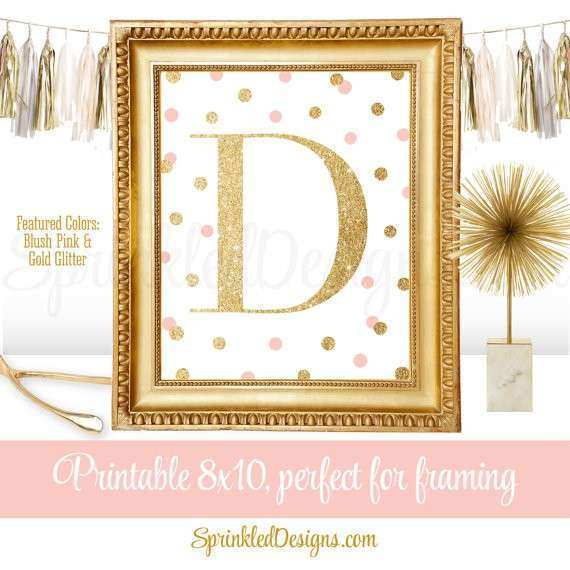 Printable Baby Girl Nursery Decor Wall Art Letter D