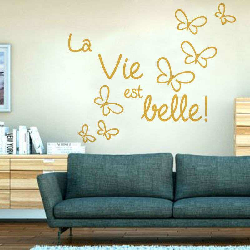French Wall Decor Luxury Life Is Beautiful Butterflies French Wall