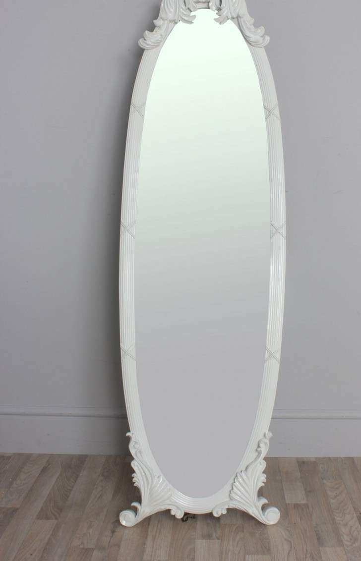 Home Decor With Framed Vintage Full Length Mirror As A