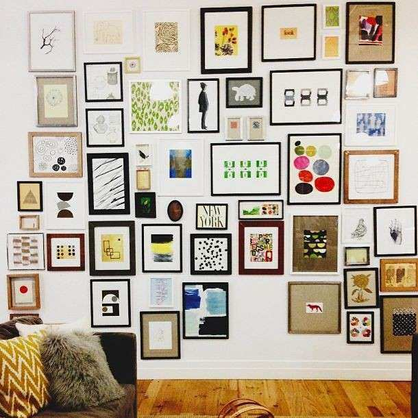 Gallery wall at west elm hq Art Ideas