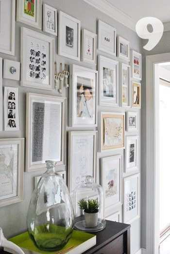 Gallery Wall Picture Frames Unique Picture Frame Cluster On ...