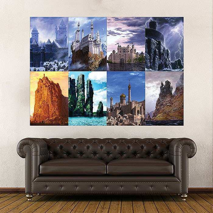 Game of Thrones House Castles Block Giant Wall Art Poster