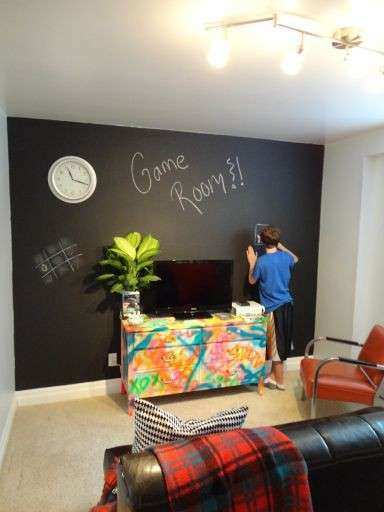 Chalkboard walls Game rooms and Chalkboards on Pinterest