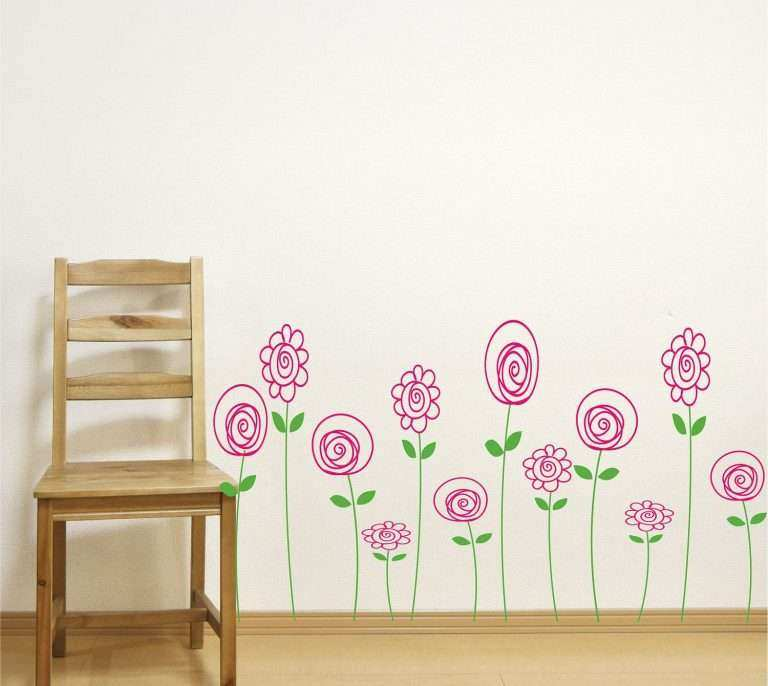 Girl Room Wall Decor Inspirational Children Wall Decals Doodle Wall ...