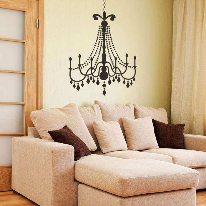 Glamour Chandelier wall decal a vinyl wall chandelier