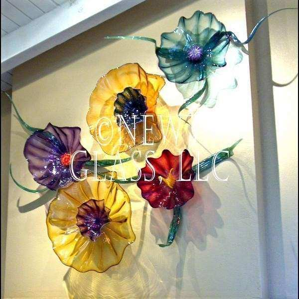Glass Wall Art and Decor Best Of Botanical Blown Art Glass Wall Flowers Gallery