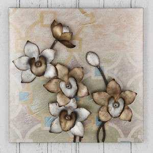 Gold and Silver Flower Metal Wall Art
