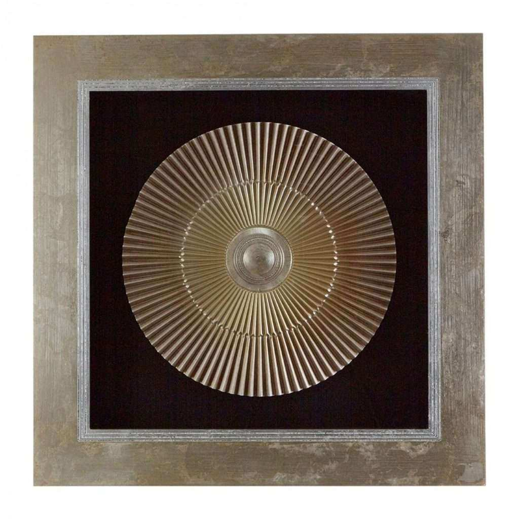 Gold Framed Wall Art Fresh Own This Framed Round Carving Two tone Gold Wall Art