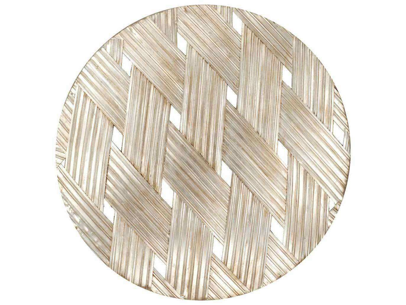 Paragon Woven Aged Gold Round Metal Exclusive Wall Art