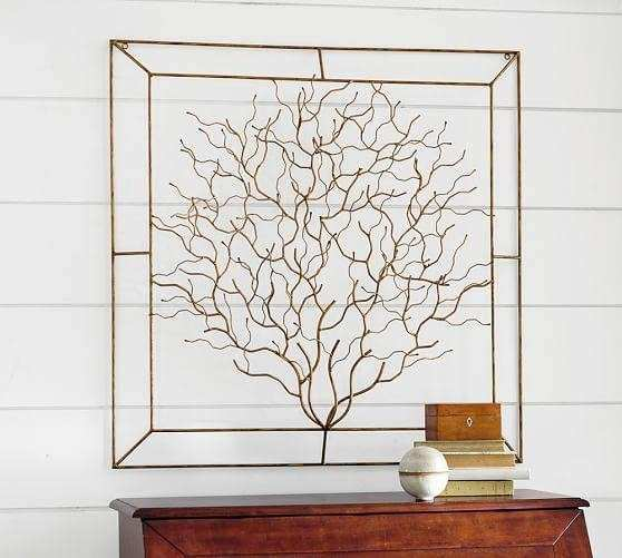 Coralina Metal Gold Wall Art