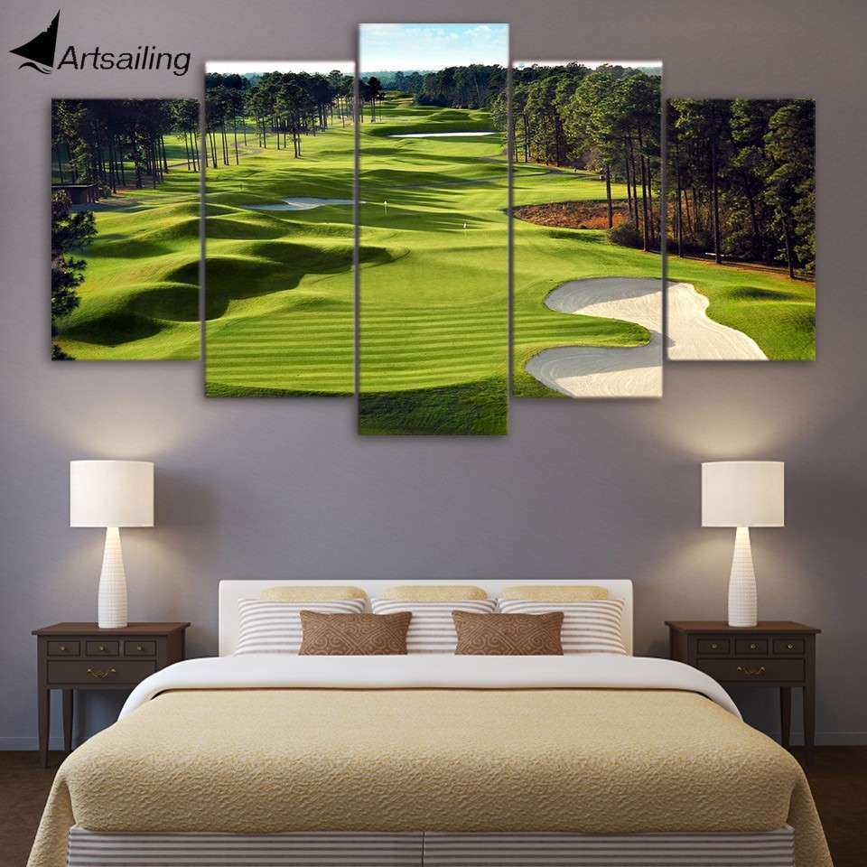 Golf Wall Decor Best Of Aliexpress Canvas Paintings Printed 5 Pieces
