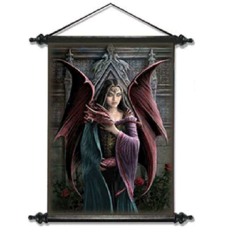ANNE STOKES GOTHIC WALL SCROLL HANGING PICTURE POSTER