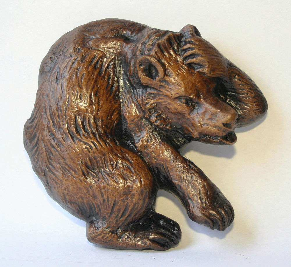 Bear Carving unique Wall Hanging Me val Gothic Decor