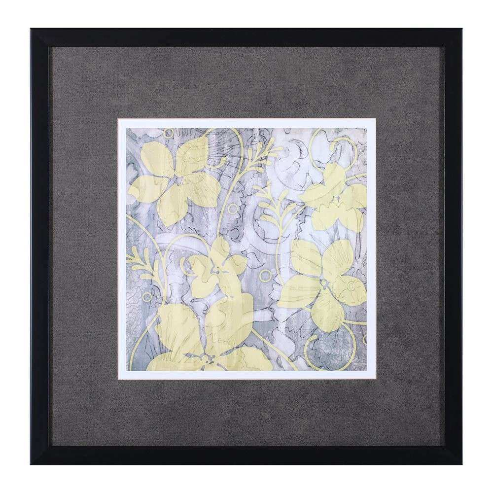 Art Effects F Yellow & Gray II Framed Art