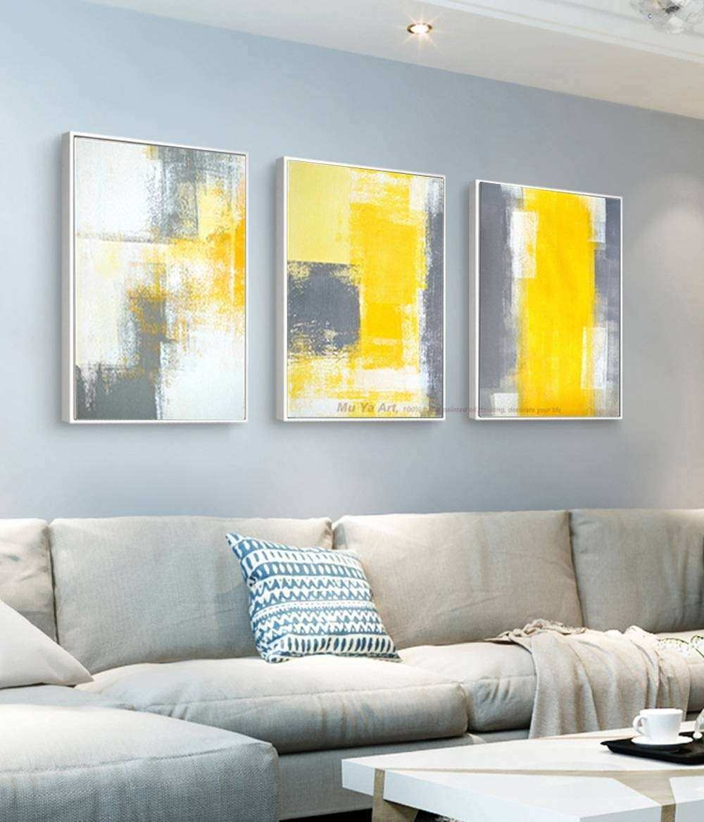 Best 20 of Gray And Yellow Wall Art