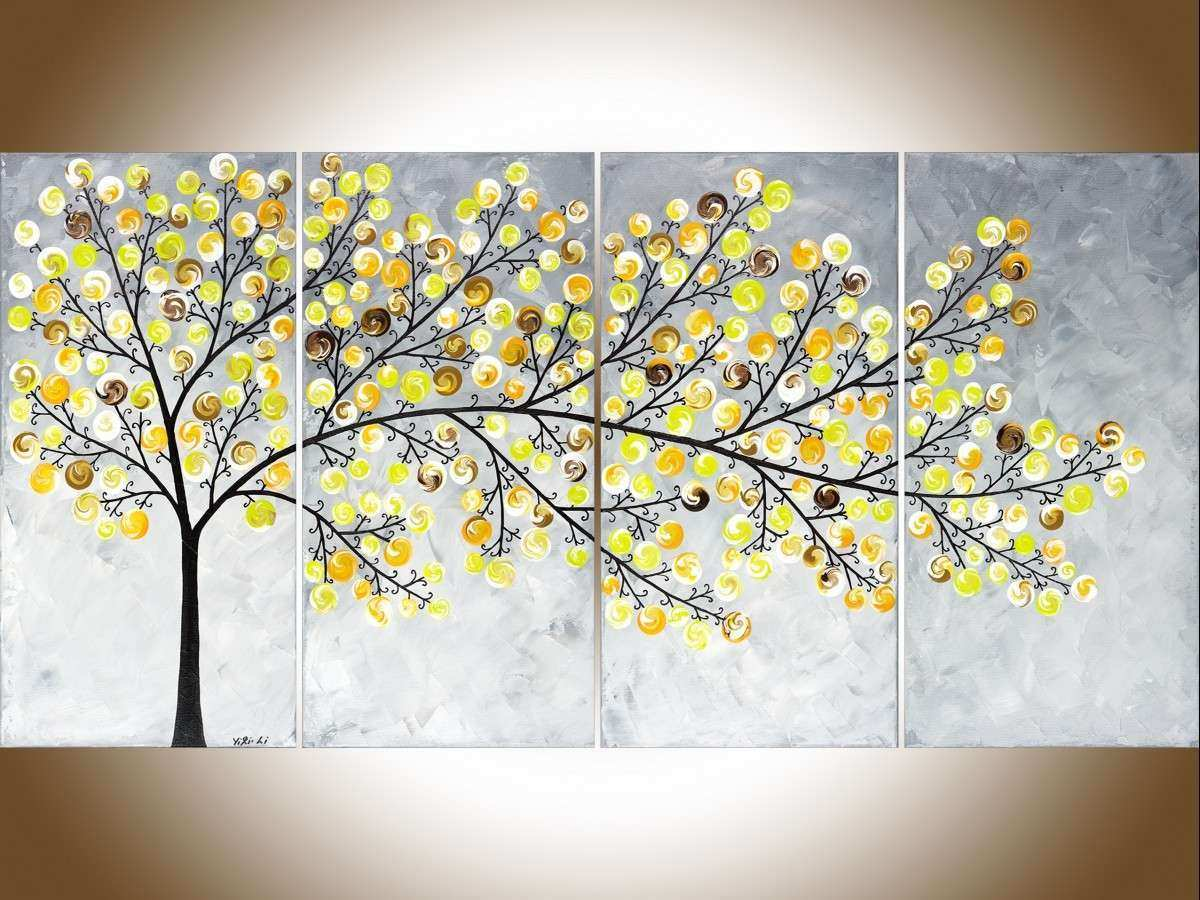 Gray and Yellow Wall Decor Awesome Weeping Willow by Qiqigallery 48 ...