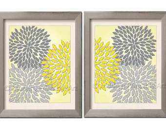 Wall Art Designs Yellow And Gray Wall Art Yellow Gray