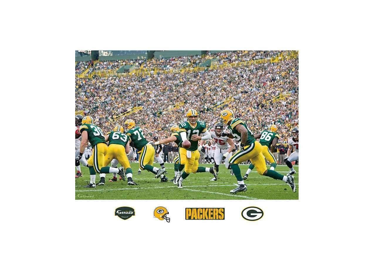 Packers Backfield In Your Face Mural Wall Decal