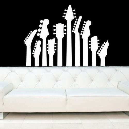 Guitar Necks Electric Guitars Decal Vinyl Sticker Wall