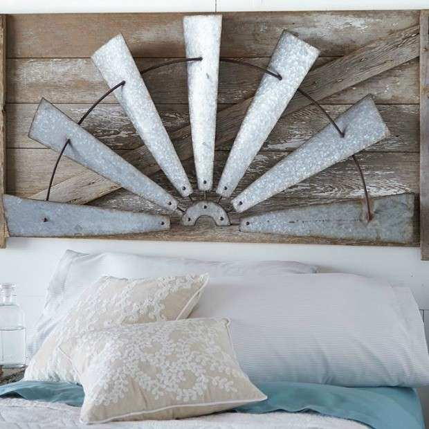 Rustic Half Windmill Wall Art Antique Farmhouse