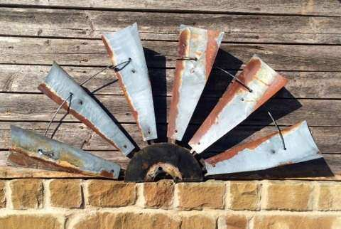 38 inch metal windmill wall art windmill half windmill