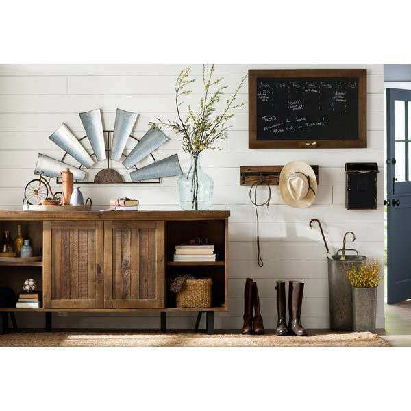 Laurel Foundry Modern Farmhouse Galvanized Metal Half